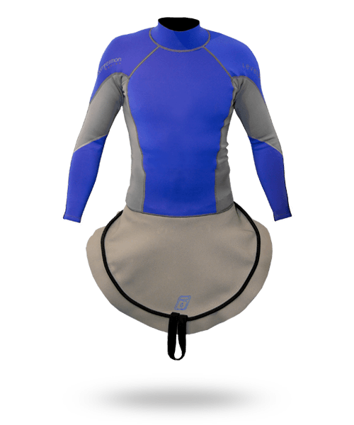 C1 Long Sleeve Neoprene Combi Top Slalom Royal/Charcoal / S Outlet