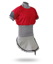C1 Short Sleeve Nylon Combi Top Slalom Red/Charcoal / S Outlet