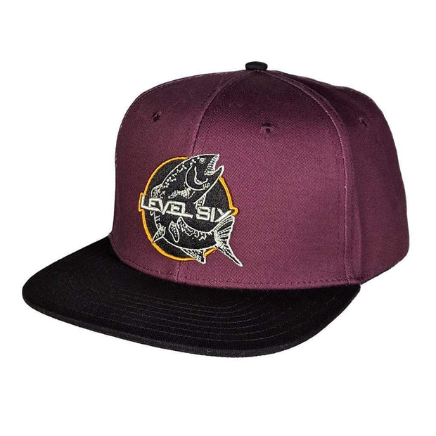 Fish Logo Cotton Hat Headwear Purple Level Six
