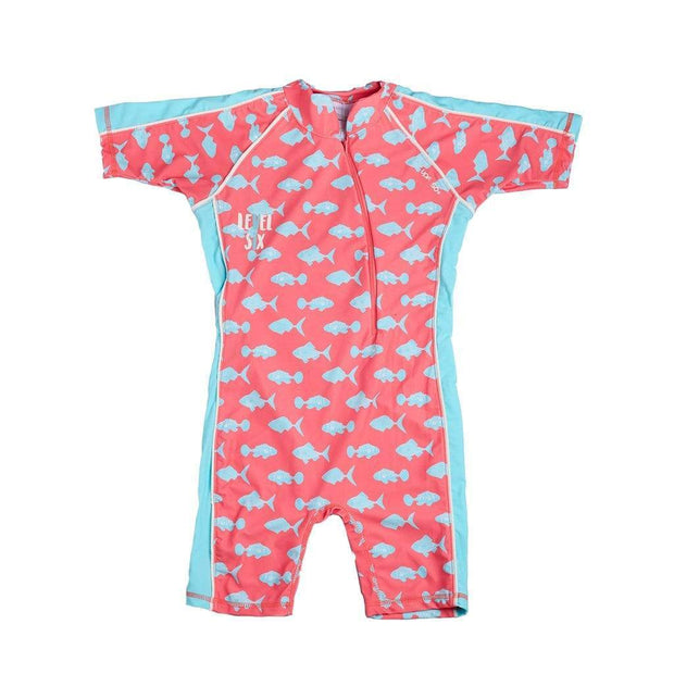 Girl's Aurora Sunsuit Kid's Casual PINK CORAL FISH / 0T Outlet