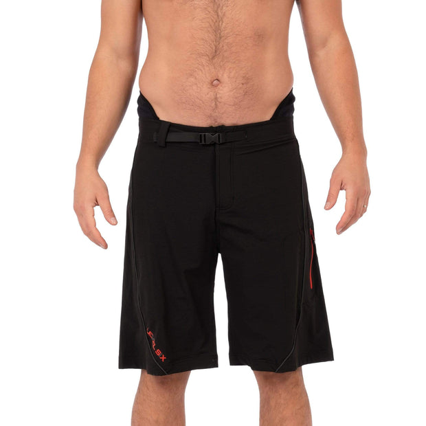 Men's Pro Guide Neoprene Lined Surf Short Boardshorts Black / 30 Level Six