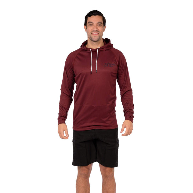 Men's Vapour Hoody Lycra S / Burgundy Level Six