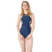 Rogue Neoprene Swimsuit Neoprene Swim NAVY MULTI STRIPES / XS Level Six