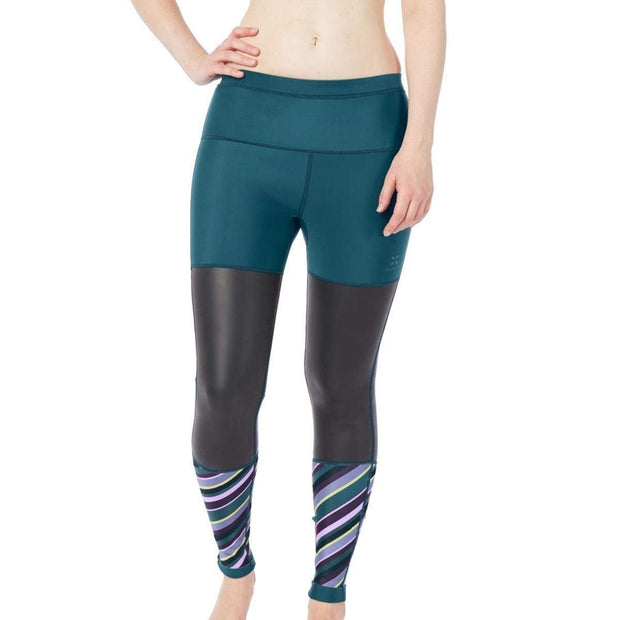 Storm Neoprene Leggings Neoprene Swim XS / Dark Teal / Print Level Six