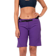Women's Pro Goddess Neoprene Lined Surf Short Boardshorts VIOLET INDIGO / 4 Level Six