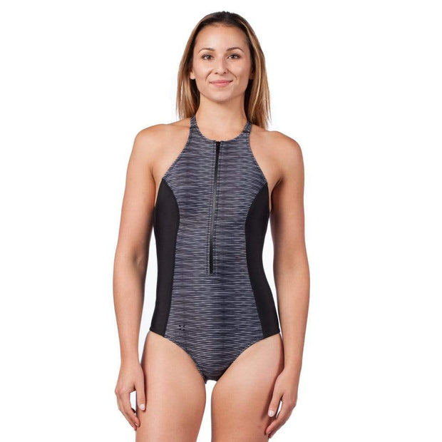 Women's Rogue Neoprene Swimsuit Neoprene Swim BLACK RIPPLES / XS Outlet