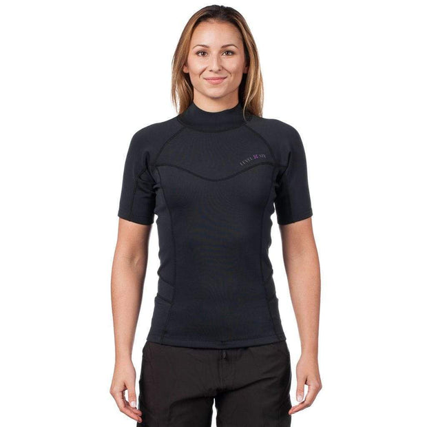 Women's Sombrio Short Sleeve Neoprene Rash Guard Neoprene BLACK / XS Outlet