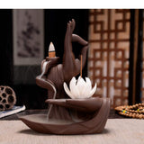 Lotus Backflow Ceramic Incense Burner