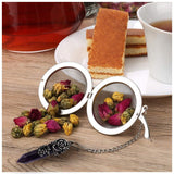 Loose Tea Leaf Strainer with Amethyst Crystal