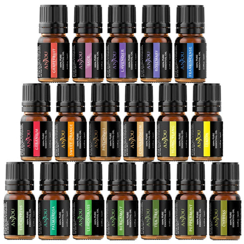 Aromatherapy Pure Essential Oils - Set of 18