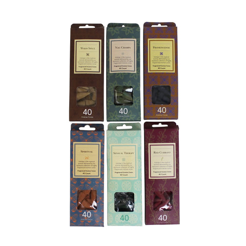 Classic Flora Incense Cones - 6 Scents