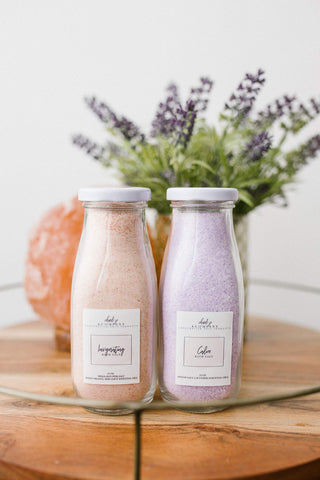 Invigorating & Calming Bath Salt Set - Orange & Lavender