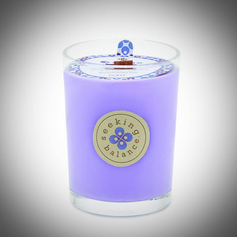 Relax: Geranium Lavender Beeswax Blend Candle