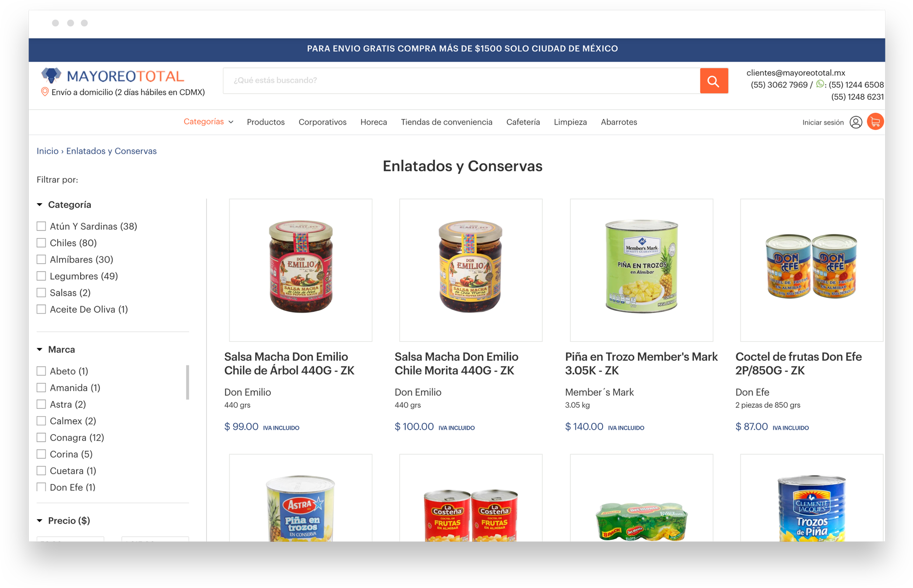The store browser window - Desktop