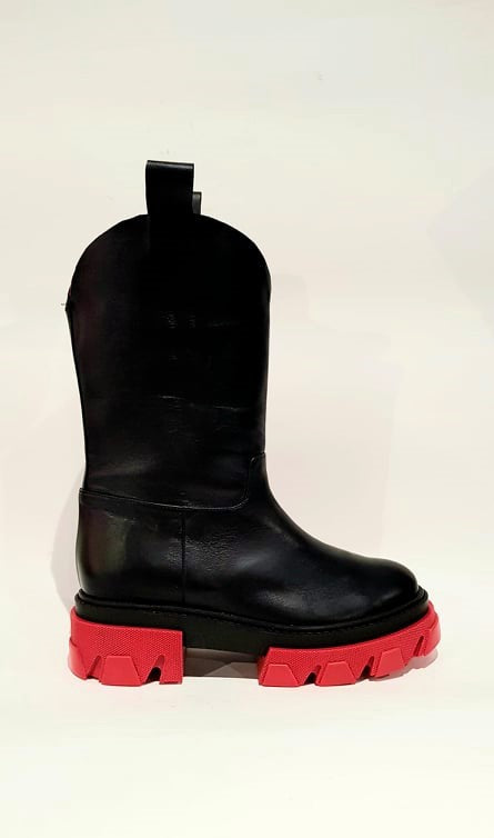 BOOT ILA TEX BLACK/RED