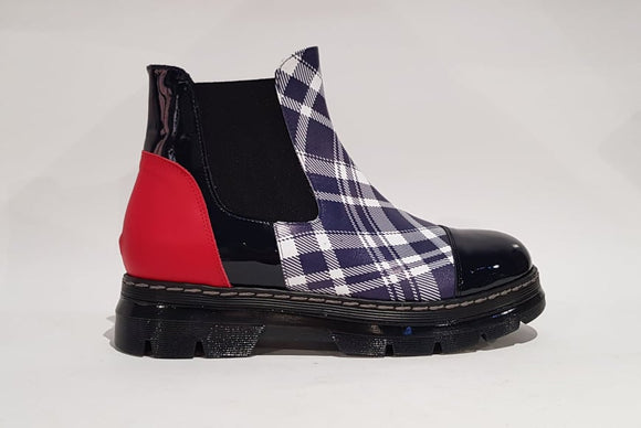 BOOT JD BLUE/RED
