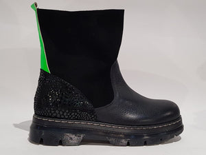 BOOT BLACK/FLUO
