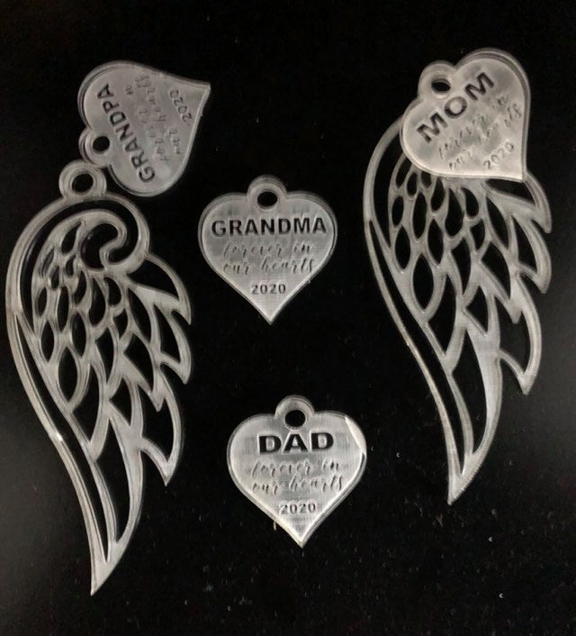 Angel Wing Memory Ornament