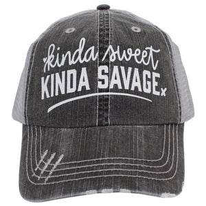 Kinda Sweet Kinda Savage Trucker Hat