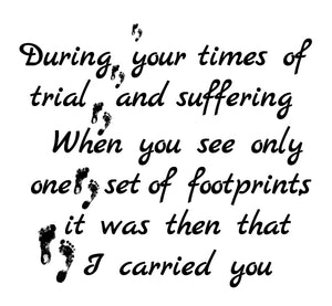 Footprints Engraved Journal