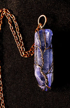 Load image into Gallery viewer, Blue Quartz Point Wire Wrapped Tree of Life - Bronze