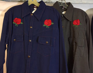 Grateful Dead Embroidered Button Down Shirts