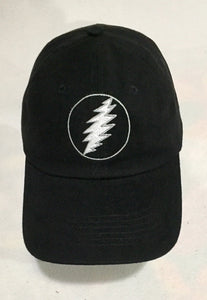 Grateful Dead Embroidered Bolt on Black Cap
