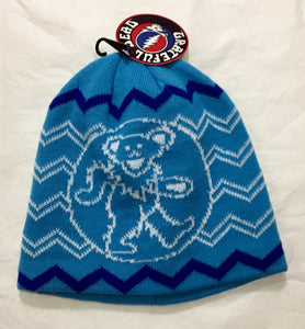 Grateful Dead Blue Dancing Bear Winter Beanie Hat