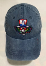 Load image into Gallery viewer, Psycle Sam on Embroidered adjustable, denim baseball cap