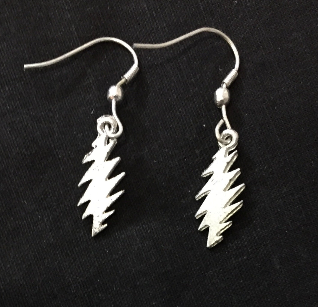 Grateful Dead Lightning Bolt Earrings Jewelry