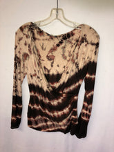 Load image into Gallery viewer, Tie Dye Mock Wrap Top