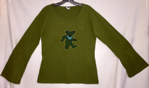Embroidered Dancing Bear Top