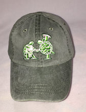 Load image into Gallery viewer, Terrapin Station: Banjo and Frisbee Playing Terrapins embroidered on grey baseball cap