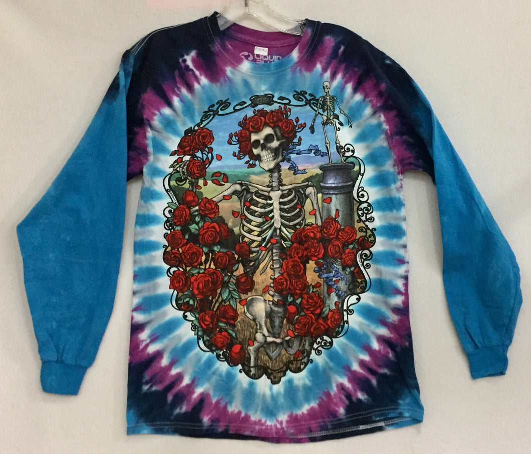 Bertha Skull & Roses Long Sleeve T-Shirt M