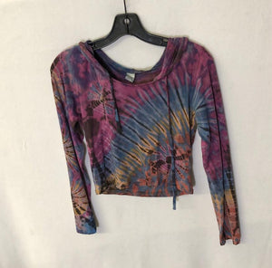 Hooded Tie Dye Crop Top