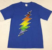 Load image into Gallery viewer, Blue Lightning Bolt Grateful Dead T-Shirt