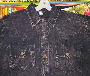 Dire Wolf Black Button Down Shirt XL