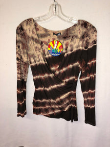 Tie Dye Mock Wrap Top