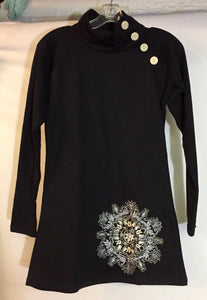 Cozy Embroidered Tunic, Fleeced Inside