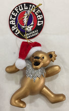Load image into Gallery viewer, Grateful Dead Dancing Bear with Santa Hat Christmas Ornament - 4 Colours