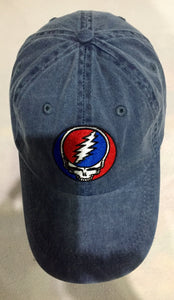 Grateful Dead Steal Your Face on Blue Denim Beisball Cap