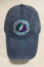 Load image into Gallery viewer, Grateful Dead Embroidered Bolt  on blue denim adjustable baseball cap