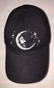Jerry Garcia Moon on Black Baseball Cap.