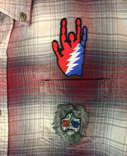 Load image into Gallery viewer, Grateful Dead Patches on Recycled Button Down Shirts