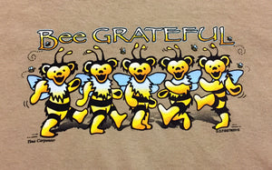 Bee Grateful Tan Short Sleeve T-Shirt