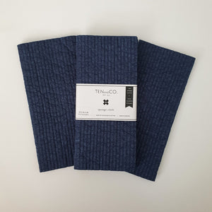 Navy Solid Dyed Sponge Cloth