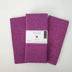 Plum Solid Dyed Sponge Cloth