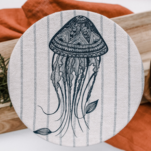 Jellyfish L Fabric Bowl Cover (unwaxed)