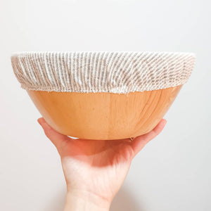 Stripes L Fabric Bowl Cover (unwaxed)