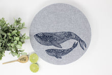 Load image into Gallery viewer, Whales XL Bowl Cover (unwaxed)